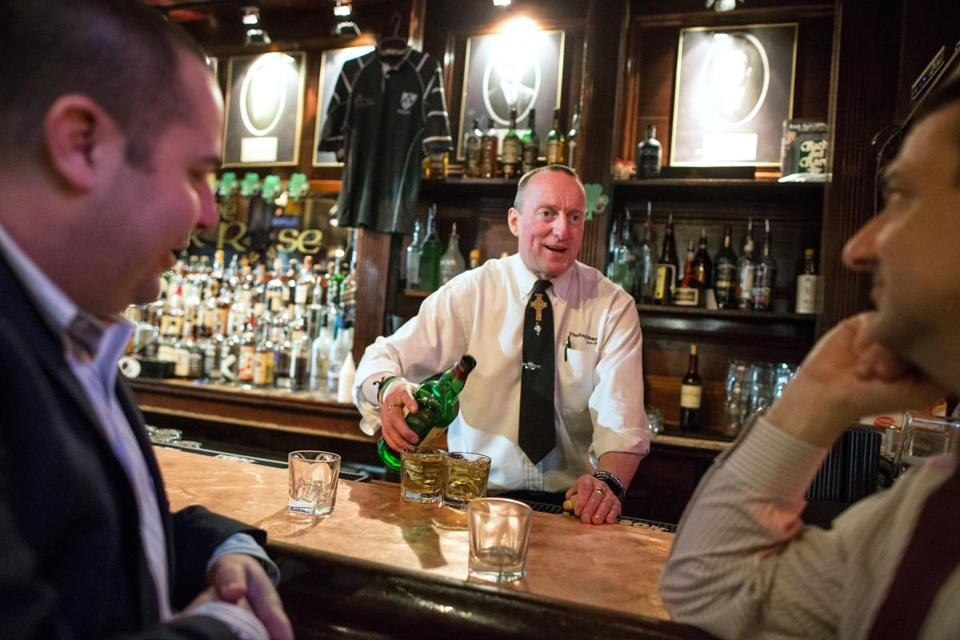 Senior bartender Kevin Fagan has been pouring at the Black Rose since 1994.